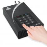 Apricorn Aegis DT 3TB External Portable Hard Drive, USB 3.0, Encrypted, Padlock