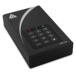 Apricorn Aegis DT 2TB External Portable Hard Drive, USB 3.0, Encrypted, Padlock