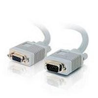 C2G 0.5m Monitor HD15 M/F cable VGA cable VGA (D-Sub) Grey