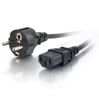 C2G 5m Power Cable Black CEE7/7 C13 coupler