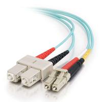 C2G 85514 fibre optic cable 2 m SC OFNR Turquoise