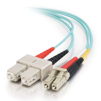 C2G 85531 fibre optic cable 1 m LC SC OFNR Turquoise
