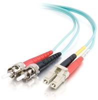 C2G 85545 fibre optic cable 10 m LC ST OFNR Turquoise
