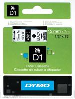 DYMO D1 Standard - Black on White - 12mm