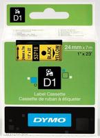 DYMO D1 Standard - Black on Yellow - 24mm