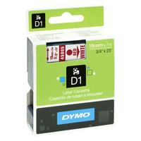 DYMO D1 Standard - Red on White - 19mm