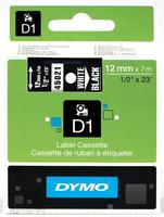 DYMO D1 Standard - White on Black - 12mm