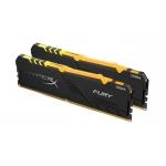 HyperX Fury RGB HX426C16FB4AK2/32 32GB (16GB x2) DDR4 2666MHz Non ECC Memory RAM DIMM
