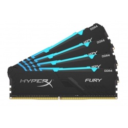 HyperX Fury RGB HX426C16FB4AK4/64 64GB (16GB x4) DDR4 2666MHz Non ECC Memory RAM DIMM