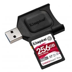 Kingston 256GB Canvas React Plus SD (SDXC) Card UHS-II, U3, V90, 300MB/s R, 260MB/s W