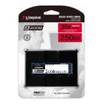 Kingston 250GB A2000 SSD M.2 (2280), NVMe, PCIe 3.0 (x4), 2000MB/s R, 1100MB/s W