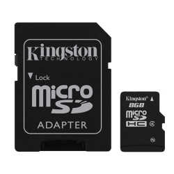 Kingston 8GB Micro SD (SDHC) Card 4MB/s W
